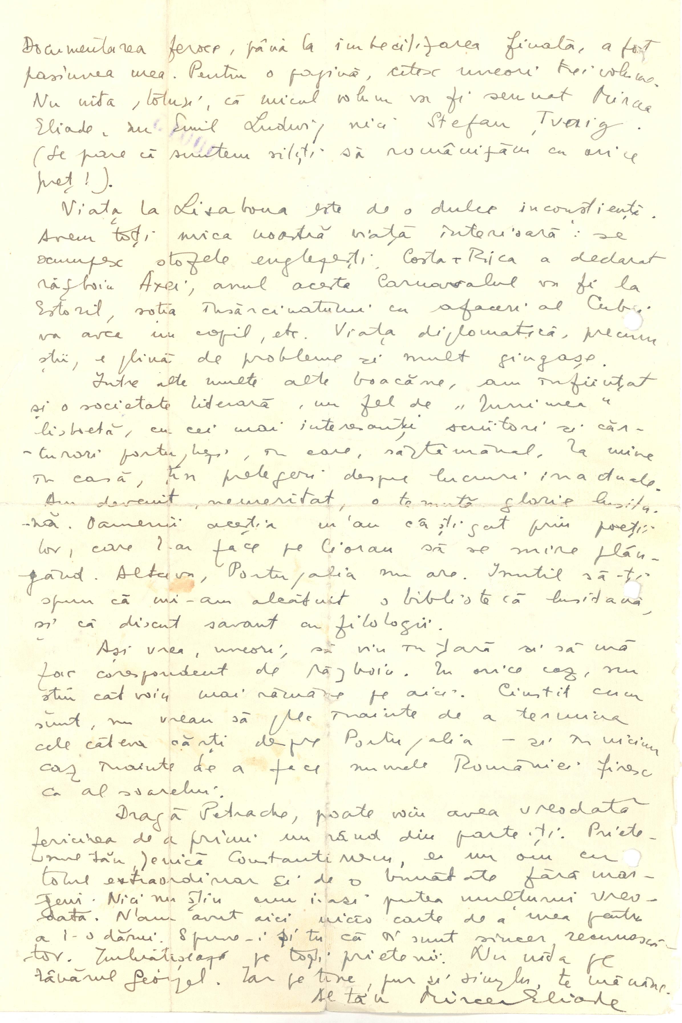 Scrisoare Eliade f.01v