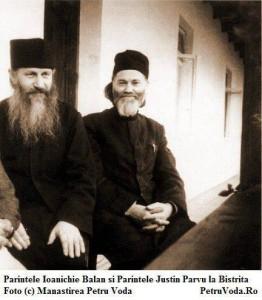 Parintele Ioanichie + Parintele Justin la Manastirea Bistrita