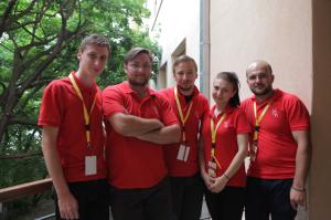 O parte din echipa de lucru a MCB 2014