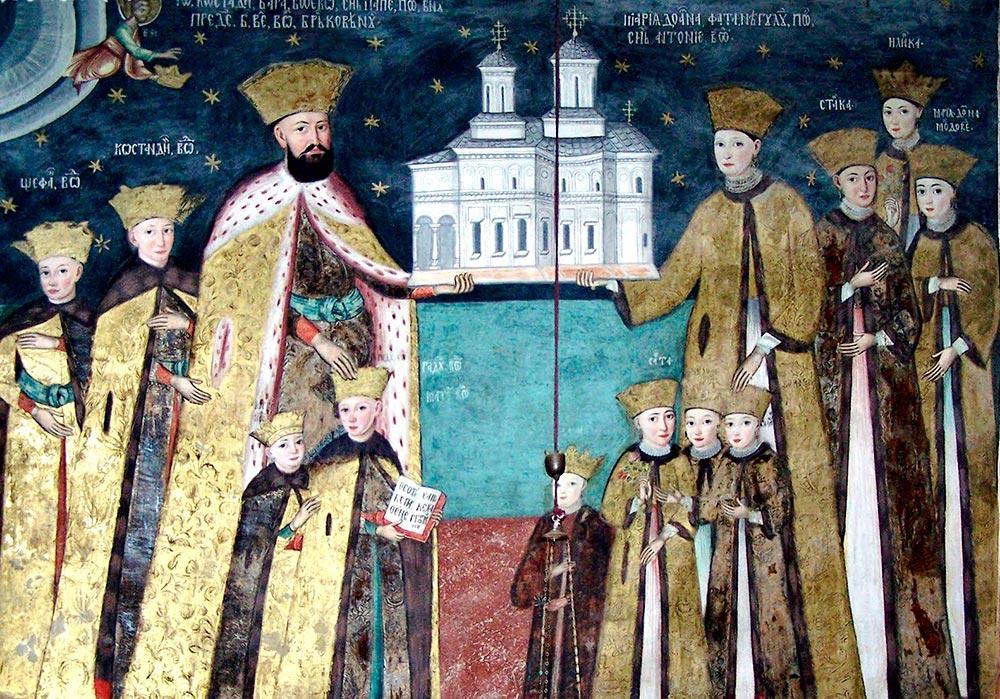 familia-brancoveanu-tabloul-votiv-hurezi