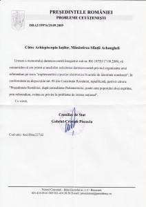 Presedintele Basescu catre Petru Voda in problema cipurilor