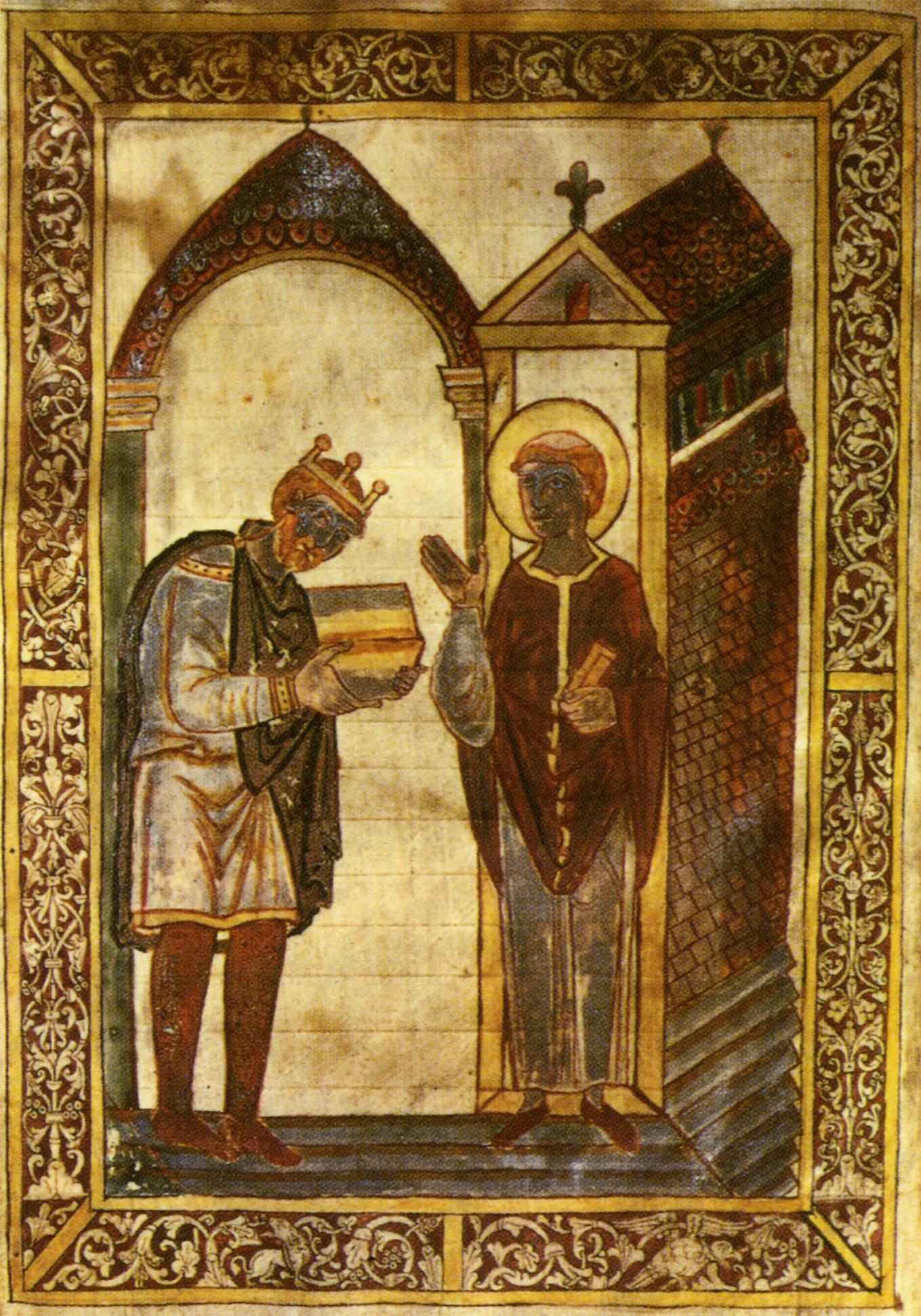 Athelstan şi Sf. Cuthbert (sec. 9)