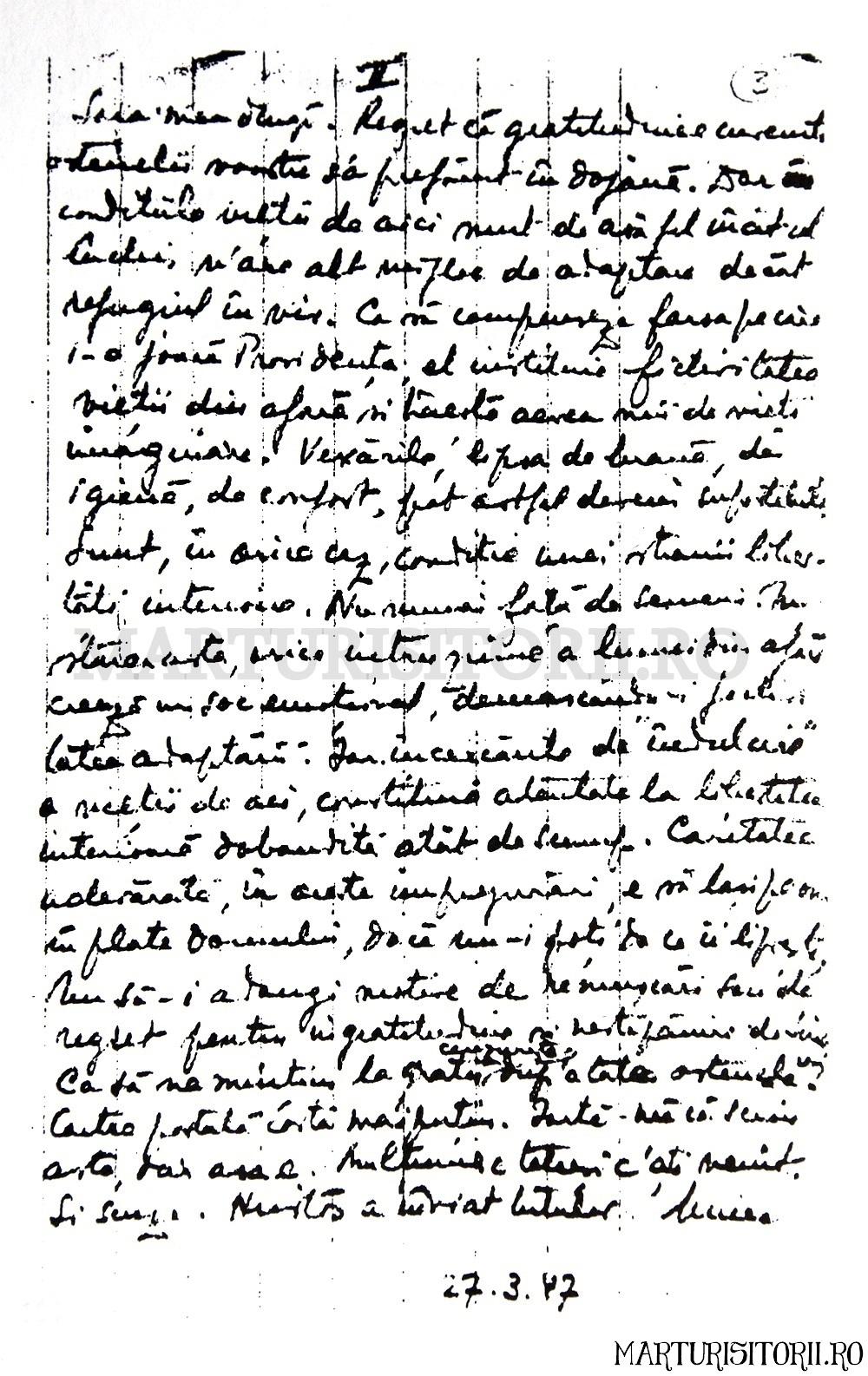 Scrisoare.Mircea.Vulcănescu-1947.03.27