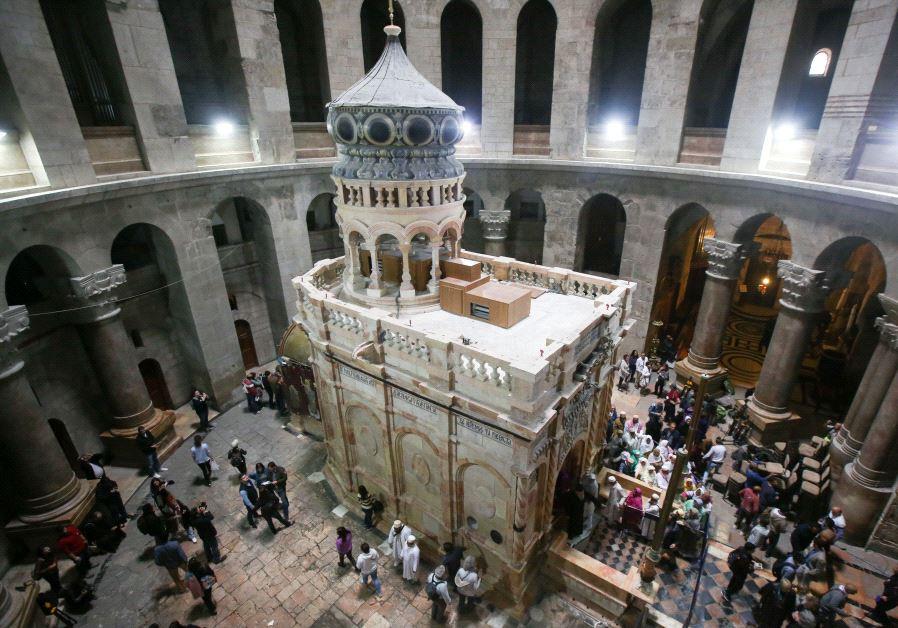 Liturghia ortodoxă în Ierusalimul cruciat