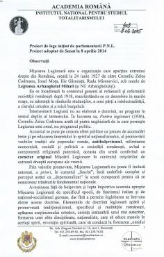 Academia Română: Mişcarea Legionară NU a fost fascistă