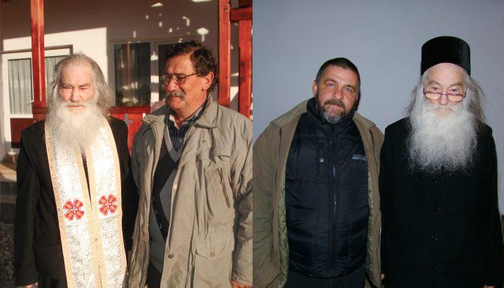 La plecarea a doi români verzi: Corneliu Marcu (schimonahul Ipatie) şi Mugur Vasiliu